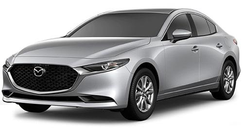 Mazda silver exterior